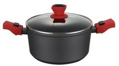 """Round 5 Litre Casserole Pan and Glass Lid with Detachable Handle 9.5"""""""
