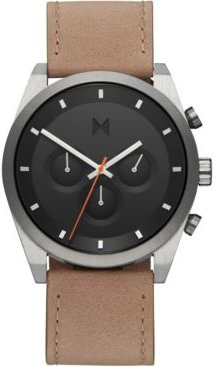 Chronograph Element Graphite Sand Leather Strap Watch 44mm