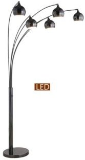 """Amore 86"""" Led Arch Floor Lamp with Dimmer"""