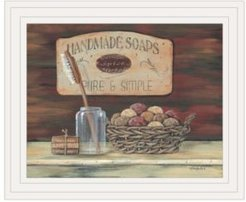"""Handmade Soaps-by Pam Britton, Ready to hang Framed print, White Frame, 17"""" x 14"""""""