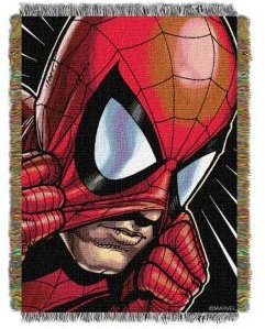 Spiderman Peter Parker Tapestry Throw