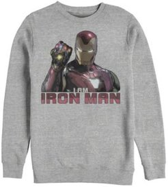 Avengers Endgame I Am Iron Man Gauntlet, Crewneck Fleece