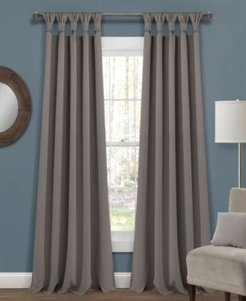 """Knotted Tab Top 52"""" x 84"""" Blackout Curtain Set"""