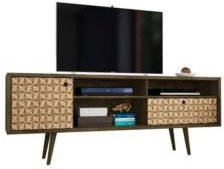 "Liberty 70.86"" Mid Century - Modern Tv Stand with 4 Shelving Spaces and 1 Drawer"