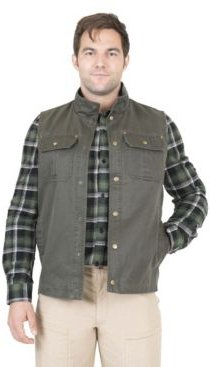 Flannel Lined Waxed Cotton Vest