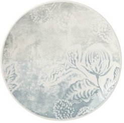 Textured Neutrals Slate Floral Accent Plate
