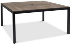 """Stockholm Aluminum 61"""" Square Outdoor Dining Table, Created for Macy's"""