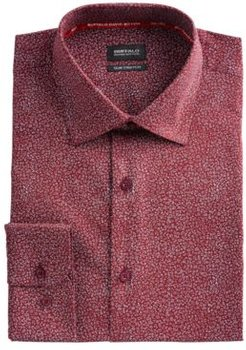 Slim-Fit Performance Stretch Floral Dress Shirt