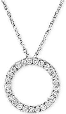 """Lab Created Diamond Circle 18"""" Pendant Necklace (3/4 ct. t.w.) in Sterling Silver"""