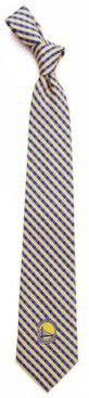 Golden State Warriors Poly Gingham Tie