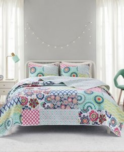 Sunny 2-Piece Twin/Twin Xl Reversible Coverlet Set Bedding