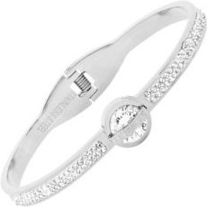 Stainless Steel Caged Roman Numeral Design Bangle