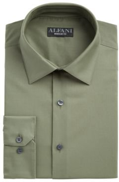 Classic/Regular Fit Performance Stretch Solid Dress Shirt, Created for Macy's