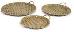 Metal Decorative Trays, Set of 3