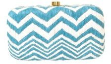 Silk Embroidered Woven Box Clutch