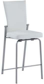 Molly Motion Back Counter Stool with Chrome Base