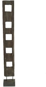 Handcrafted Rustic 1 Panel Free Standing Organic Wood Sculpture Screen