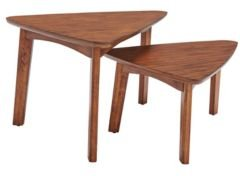 Monterey Triangular Set of 2 Mid-Century Modern Nesting Tables