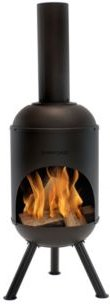 Steel Outdoor Wood-Burning Chiminea Fire Pit
