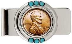 1909 First-Year-Of-Issue Lincoln Penny Turquoise Coin Money Clip
