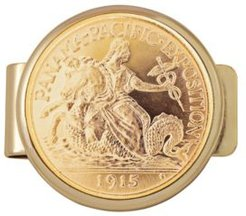 Tribute To 2.5 Dollar Panama Pacific Exposition Gold Coin Money Clip