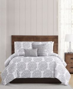Grace Pleated Twin Xl Comforter Set Bedding