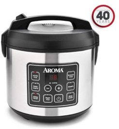 Arc-150SB 20 Cup Cooked Digital Cool-Touch Rice Cooker, Food Steamer and Slow Cooker