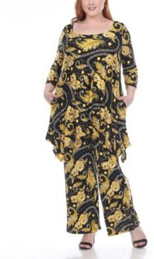 Plus Size Head to Toe Printed 2 Piece Set