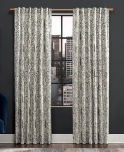 """Aubry 52"""" x 96"""" Shimmering Floral Blackout Curtain Panel"""