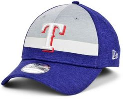 Texas Rangers Striped Shadow Tech 39THIRTY Cap
