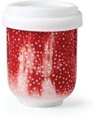 Red Confetti Takeaway Cup