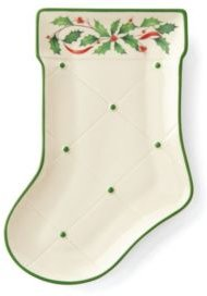 Holiday Stocking Accent Plate