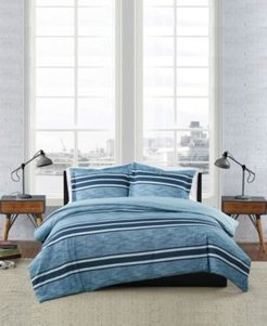 Mitchell Stripe 3 Piece Comforter Set, Full/Queen Bedding
