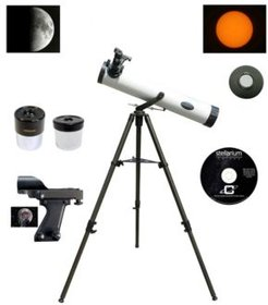 800mm x 80mm Astronomical Reflector Telescope Kit with 8 x 21mm Compact Binocular and Case