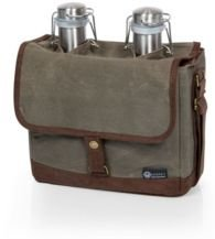 Insulated Double Growler Tote with Growlers