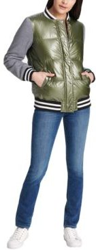 Trendy Plus Size Bomber Jacket