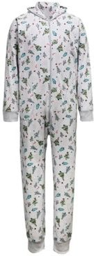 Matching Men's Festive Trees Hooded One Piece Family Pajamas, Created for Macy's