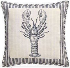 """20"""" x 20"""" Lobster Patch Decorative Pillow"""