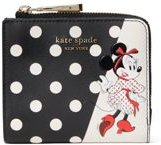 kate spde new york Disney x Kate Spade New York Minnie Mouse Small Bifold Wallet
