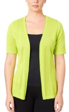 Pointelle Open Front Cardigan