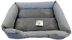 Self Cooling Embossed Faux Leather Dog Bed