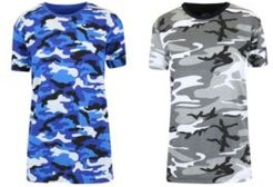 Loose Fit Short Sleeve Crew Neck Camo Printed Tee, Pack of 2