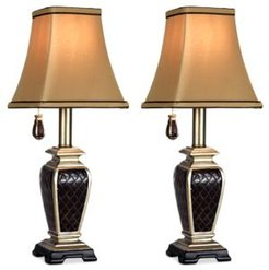 Set of 2 Brompton Pull-Chain Mini Accent Lamps