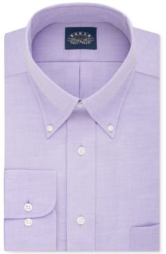 Classic-Fit Stretch Collar Non-Iron Solid Dress Shirt