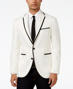 Slim-Fit White with Black Trim Dinner Jacket, Online Only
