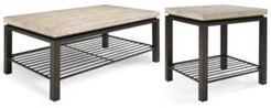 Tempo Rectangle 2-Pc. Table Set (Coffee & End Table)