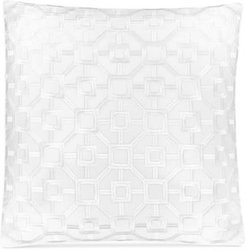 """Embroidered Frame 18"""" Square Decorative Pillow, Created for Macy's Bedding"""