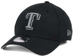Texas Rangers Black and Charcoal Classic 39THIRTY Cap