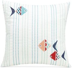 "Go Fish 16"" Square Decorative Pillow"