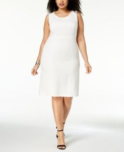 Plus Size Crepe Sheath Dress